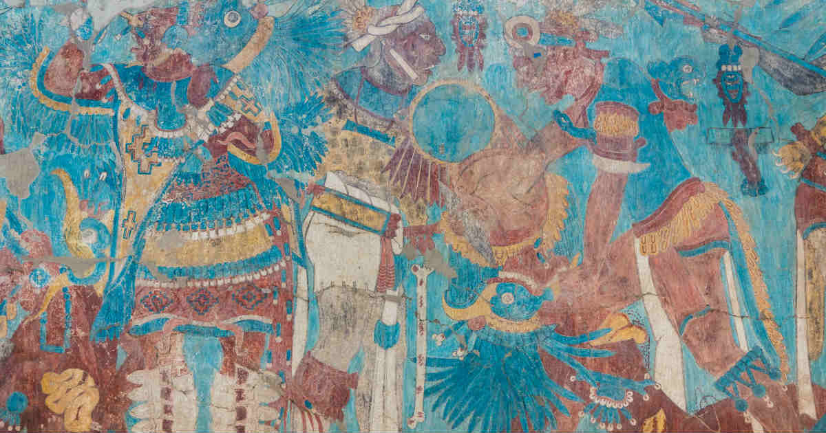 Murales de Cacaxtla en Tlaxcala