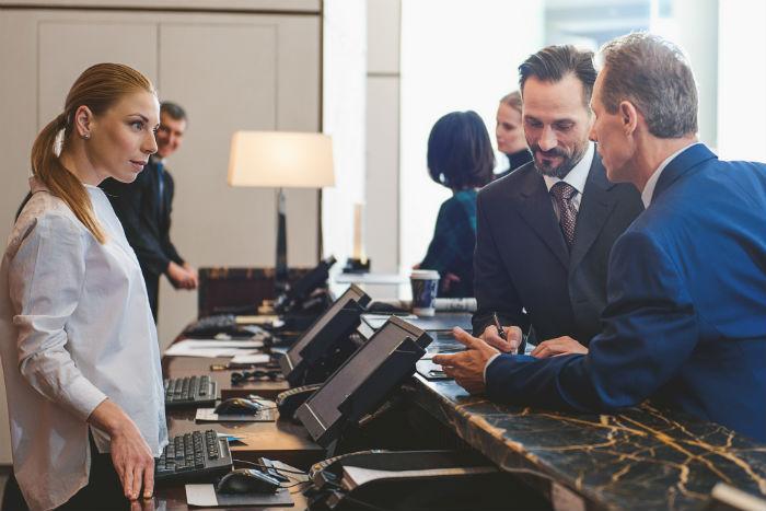 equipo de trabajo para hotel