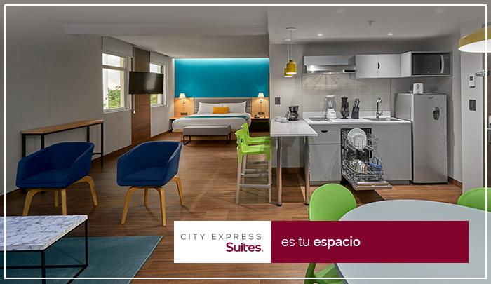 City Express Suites - El hotel ideal para estancias largas